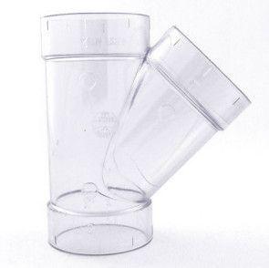 "4"" Clear PVC Wye 475-040L"