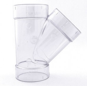 "3"" Clear PVC Wye 475-030L"
