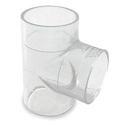"""1-1/2"""" Clear PVC Tee 401-015L"""