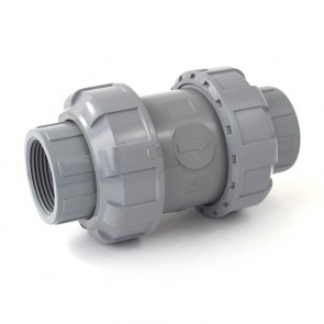 "1-1/4"" CPVC True Union Ball Check Valve - Threaded"