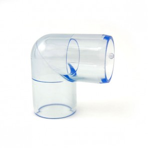 "3/4"" Clear PVC Elbow Fitting"
