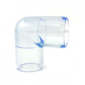 "1"" Clear PVC Elbow Fitting"
