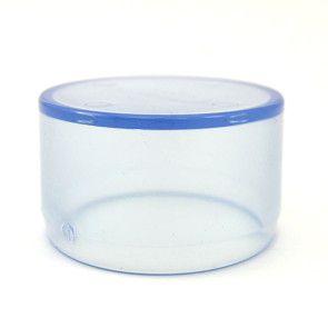2 inch Clear PVC Flat Cap