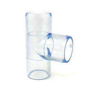 "3/4"" Clear PVC Tee"