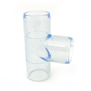 """1"""" Clear PVC Tee Fitting"""