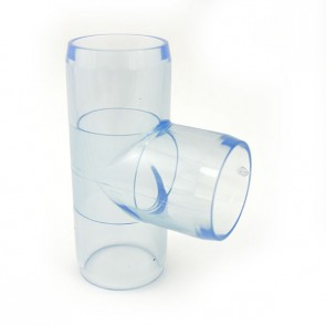 "1-1/4"" Clear PVC Tee"