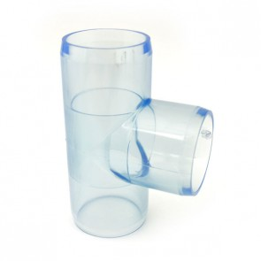 "1-1/2"" Clear PVC Tee"