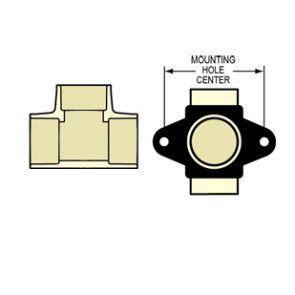 """1/2"""" CTS CPVC Drop Ear Tee with Bracket DE4101-005"""