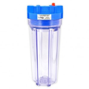 "10"" Slim Big Blue Filter Housing Clear"