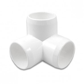 "1"" 3-Way PVC Furniture Fitting - Furniture Grade"