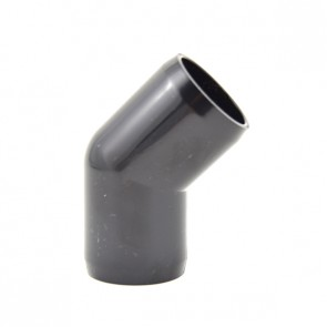 "3/4"" 45-Elbow Furniture Grade PVC - Black Color"