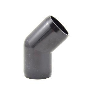 "3/4"" 45-Elbow Furniture Grade PVC - Black Color"