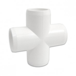 "1/2"" PVC Cross - Furniture Grade"