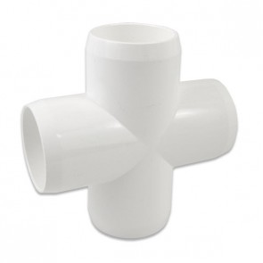 "1-1/4"" Furniture Grade PVC Cross"
