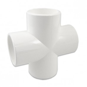 "1-1/2"" Furniture Grade PVC Cross"