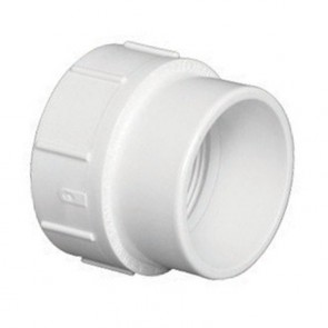 "1-1/2"" DWV PVC Cleanout Adapter SP x FPT D105-015"