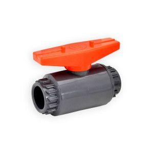 Gray PVC Compact Ball Valve - Socket