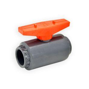 "3/4"" Flui-PRO PVC Compact Ball Valve - Gray / Socket (FP-GS-007)"