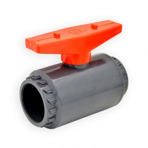 "1-1/4"" Flui-PRO PVC Compact Ball Valve - Gray / Socket (FP-GS-012"
