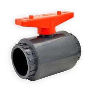 "2"" Flui-PRO PVC Compact Ball Valve - Gray / Socket (FP-GS-020)"