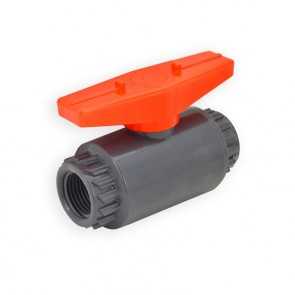 "1/2"" Flui-PRO PVC Compact Ball Valve - Gray / Threaded (FP-GT-005)"