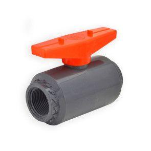 "3/4"" Flui-PRO PVC Compact Ball Valve - Gray / Threaded (FP-GT-007)"