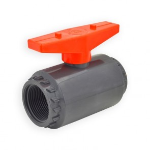"1-1/4"" Flui-PRO PVC Compact Ball Valve - Gray / Threaded (FP-GT-012)"