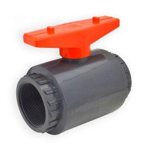 "2"" Flui-PRO PVC Compact Ball Valve - Gray / Threaded (FP-GT-020)"