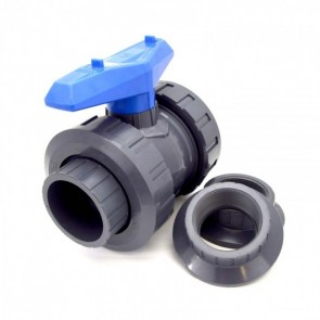 "1-1/4"" PVC True Union Ball Valve - Flui-PRO SERIES 2"