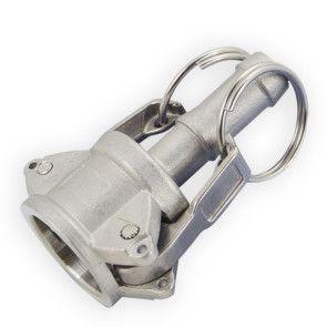 "1/2"" Flui-PRO 316 SS Camlock Fitting - Female Camlock x Hose Shank (FP-SS-C-50)"