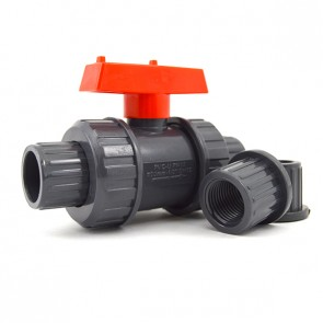 PVC True Union Valve with Red Handle