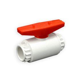 "1/2"" Flui-PRO PVC Compact Ball Valve - White / Socket (FP-WS-005)"