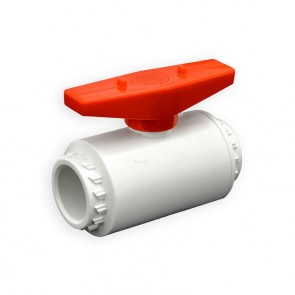"3/4"" Flui-PRO PVC Compact Ball Valve - White / Socket (FP-WS-007)"