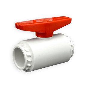 "1"" Flui-PRO PVC Compact Ball Valve - White / Socket (FP-WS-010)"