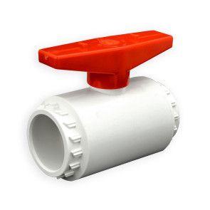 "1-1/4"" Flui-PRO PVC Compact Ball Valve - White / Socket (FP-WS-012)"