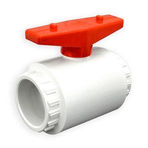 "2"" Flui-PRO PVC Compact Ball Valve - White / Socket (FP-WS-020)"