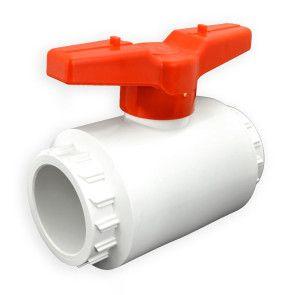 "2-1/2"" Flui-PRO PVC Compact Ball Valve - White / Socket (FP-WS-025)"