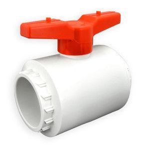 "3"" Flui-PRO PVC Compact Ball Valve - White / Socket (FP-WS-030)"