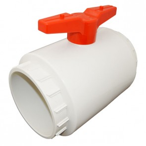 White PVC Compact Ball Valve - Socket
