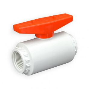 "3/4"" Flui-PRO PVC Compact Ball Valve - White / Threaded (FP-WT-007)"
