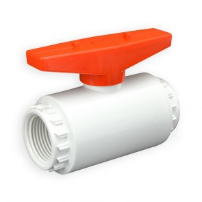 "1"" Flui-PRO PVC Compact Ball Valve - White / Threaded (FP-WT-010)"