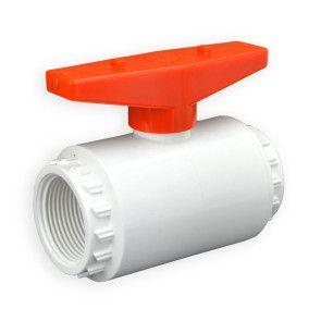 "1-1/4"" Flui-PRO PVC Compact Ball Valve - White / Threaded (FP-WT-012)"