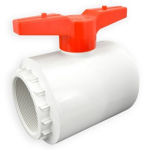 "4"" Flui-PRO PVC Compact Ball Valve - White / Threaded (FP-WT-040)"