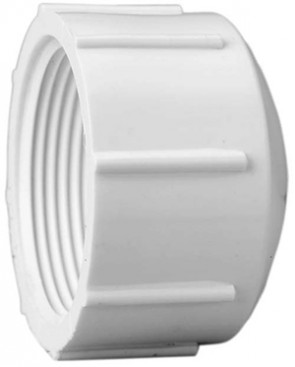 "2"" Sch 40 PVC Cap - FPT Threaded 448-020"