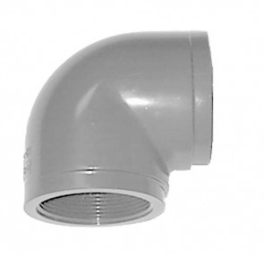 "3/8"" Schedule 80 CPVC 90 Threaded Elbow 9808-003"