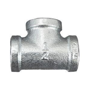 """1/2"""" Galvanized Malleable Tee - FNPT"""