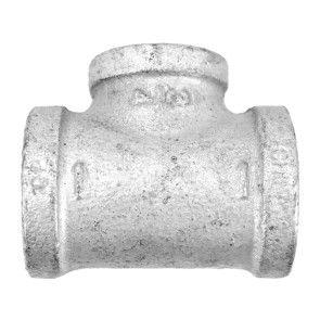 "1"" x 1"" x 3/4"" Galvanized Malleable Tee - FNPT (GMT1134)"