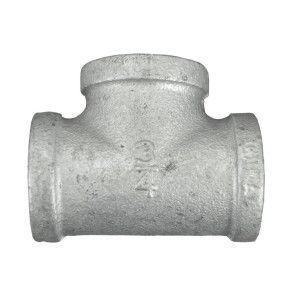 """3/4"""" Galvanized Malleable Tee - FNPT"""