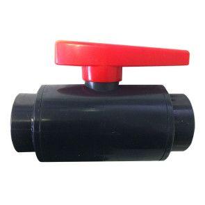 "2-1/2"" DELUXE Compact PVC Ball Valve - Gray/Threaded"