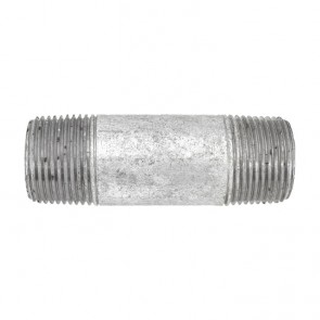 """3/4"""" Galvanized Malleable Pipe Nipple Fitting"""